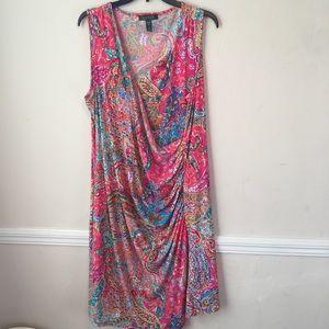 Lauren Ralph Lauren Paisley Faux Wrap Dress